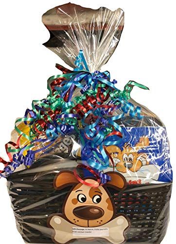 Lulu's Baskets PET Mascot Dog/CAT Gift Basket Beautiful Basket with Food + Gifts (Dog Gift Basket)