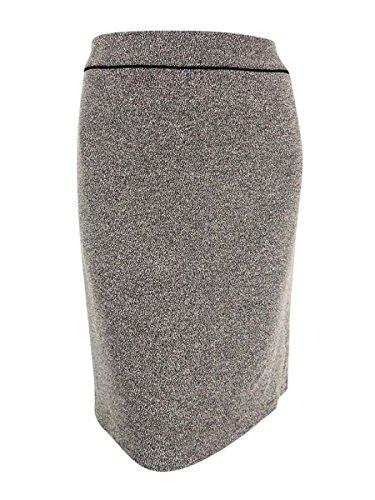 Kasper Womens Plus Tweed Work Pencil Skirt Black-Ivory ()