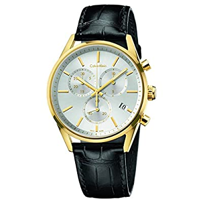 Calvin Klein K4M275C6 Men's Formality Silver Dial Chrono Watch