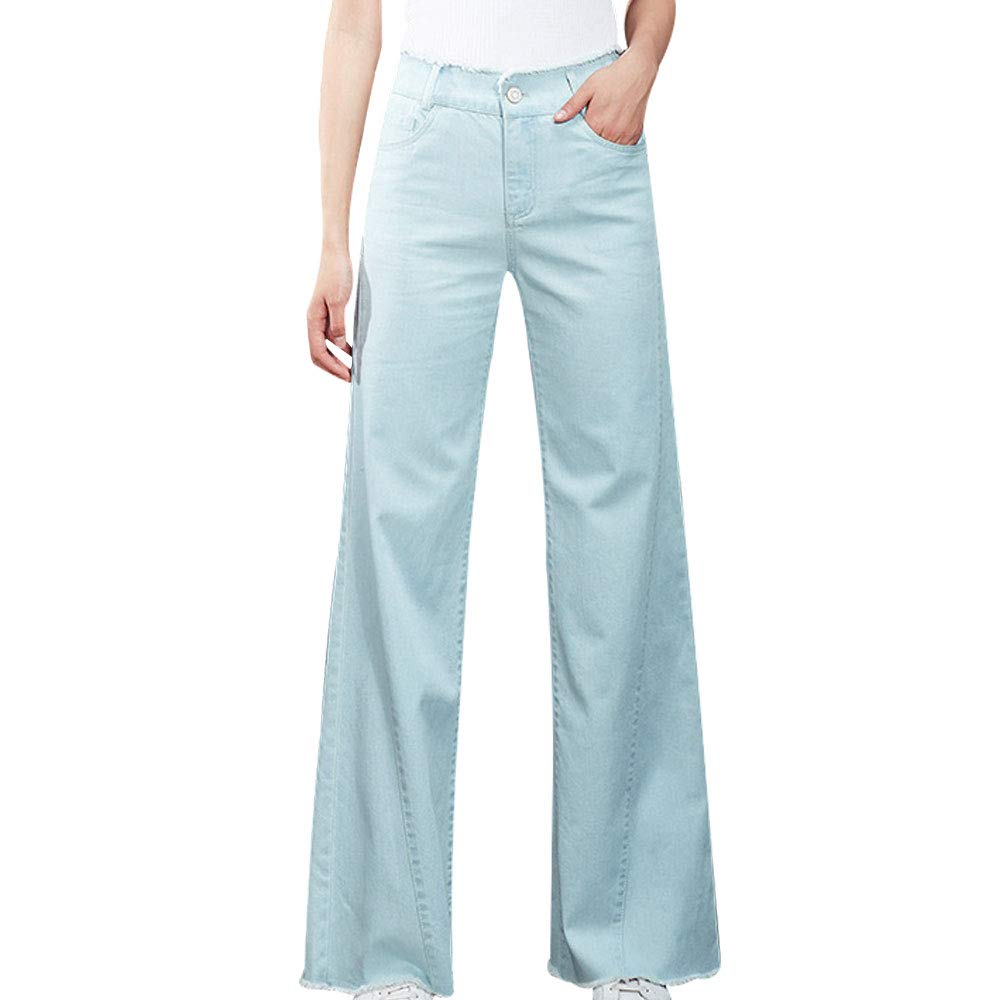 EVEDESIGN Womens Modern Boot Cut Jean High Rise Button Fly Flare Stretch Straight Jeans