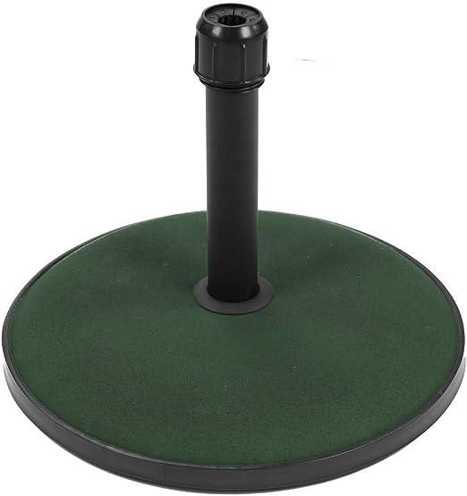 Pie de Parasol de jardín de 15 kg de Cemento Verde Garden - LOLAhome: Amazon.es: Jardín