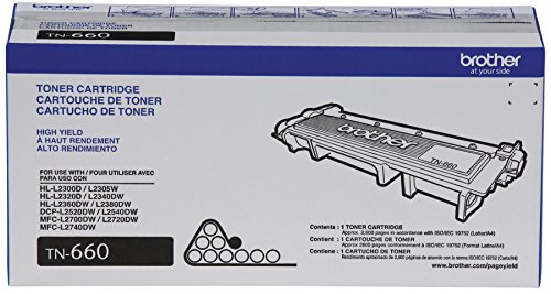 Large Product Image of Brother Genuine High Yield Toner Cartridge, TN660, Replacement Black Toner, Page Yield Up To 2,600 Pages, Amazon Dash Replenishment Cartridge