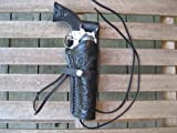 Black Right Handed Tooled Leather Gun Holster