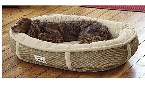 Orvis Wraparound Fleece Dog Bed Cover / Large, Brown Tweed, by Orvis