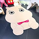 Hippo Shape Carpet Kids Room 100x150cm Children Play Game Floor Mat Home Entrance Doormat Study Area Rug Baby