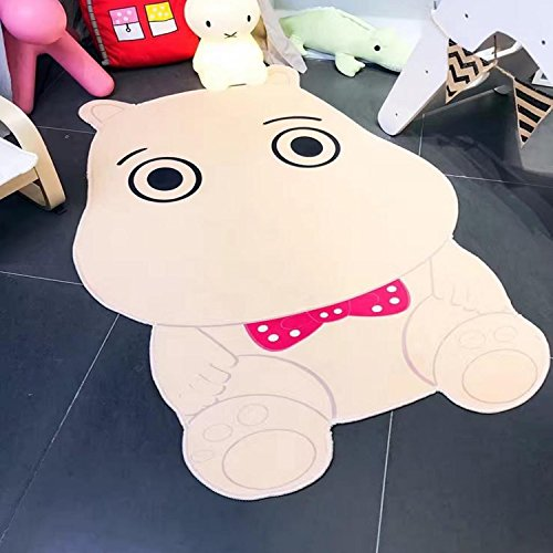 Hippo Shape Carpet Kids Room 100x150cm Children Play Game Floor Mat Home Entrance Doormat Study Area Rug Baby by Floor Games