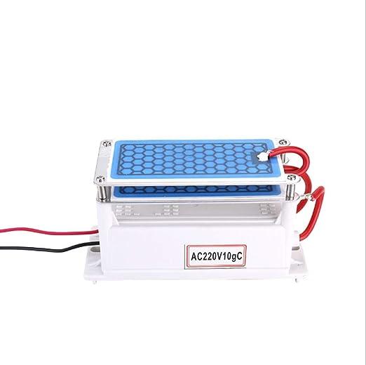 WYWML Generador de ozono portátil, 10 g/h de cerámica Máquina de ozono Doble Placa integrada Ozonizador Purificador ...