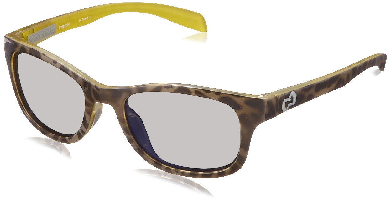 Native Eyewear Highline Polarized Sunglass, Black Lime Burst and Grey Frame/Blue Reflex Lens