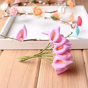 Big-Deal_120PCS/Lot Head Multicolor Handmade PE Foam Calla Lily Flower Bouquet/Scrapbooking Artificial Lily Flowers Artificial Flower - (Color:3) 40