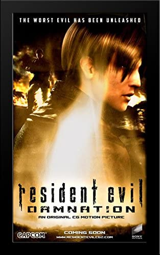 Amazon Com Resident Evil Damnation 28x40 Large Black Wood Framed