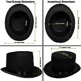 Top Hat Black Felt | One Size Magician Hat