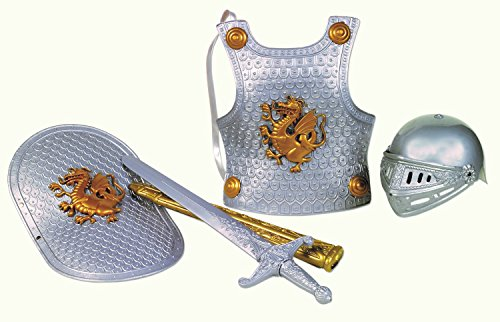 Small World Toys Imaginative Play - Knight in Shining Armor Silver Color -