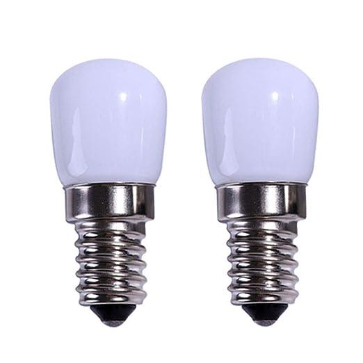 Akaiyal E14 Refrigerador LED Bombilla Regulable 2W T22 SES Pygmy Lámpara Cálida Blanca 3000k 200-240V 2835 SMD Para Microondas Cocina Campana Máquina ...