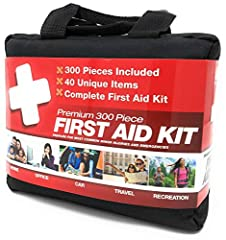 "M2 BASICS 300-Piece First Aid Kit Contents:BANDAGES40 - Adhesive Bandage 3"" x 1""50 - Adhesive Bandage 3"" x 3/4""15 - Adhesive Bandage Strips10 - Butterfly Bandage10 - Fingertip Bandage5 - Knee/Elbow Adhesive Bandage: 2"" x 3""5 - K..."