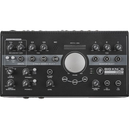 Mackie Big Knob Studio+ Monitor Controller and Interface with 1 Year EverythingMusic Extended Warranty Free ()