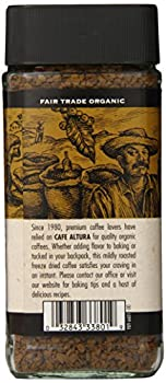 Cafe Altura Freeze Dried Instant Organic Coffee, 3.53 Ounce (Pack Of 2) 3