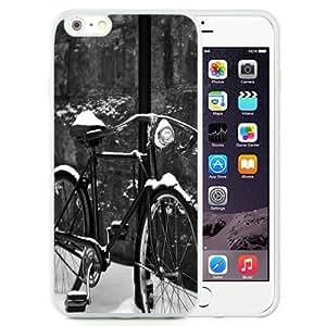 NEW Unique Custom Designed iPhone 6 Plus 5.5 Inch Phone Case With Retro Bycicle Snow_White Phone Case
