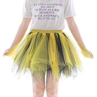 Rcool Falda Corta Faldas Faldas Mujer Invierno Faldas largas Falda Flamenca Mujer, Falda Corta De Gasa Plisada B: Amazon.es: Ropa y accesorios
