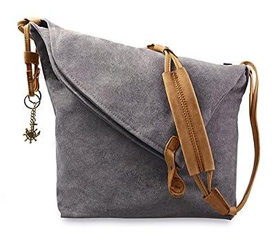 Fansela(TM) Unisex Oversized Retro Canvas Hobo Crossbody Satchel Bag Messenger Handbag