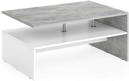 Vicco Tavolino Da Divano Amato Tavolino Da Salotto Cemento Bianco Tavolino Amazon It Casa E Cucina