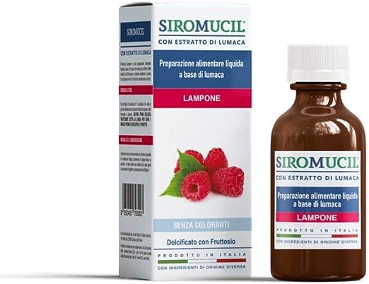 Siromucil sciroppo fluidificante con estratto di lumaca gusto lampone - 150 ml 501