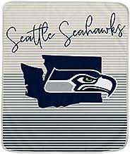 Pegasus Sports NFL Ultra Fleece State Stripe Blanket- Seattle Seahawks