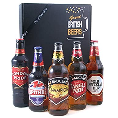 Beer Gift Set - The Great British Beers Gift Box for Men with a ...
