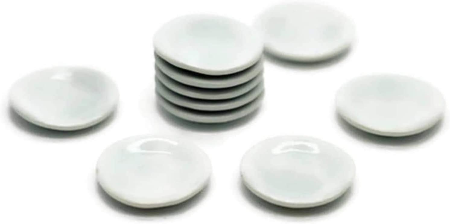 1shopforyou White Cearmic Plate Dish Bowl Dollhouse Miniatures Food Kitchen