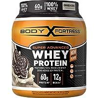 Polvo de proteína de suero de leche Super Advanced de Body Fortress, crema de cookies N ', 2 lbs