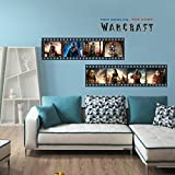 Fangeplus(TM) Warcraft(2016) Two Worlds One Home Movie DIY Removable Art Mural Vinyl Waterproof Wall Stickers Kids Room Decor Nursery Decal Sticker Wallpaper 35.4''x23.6''