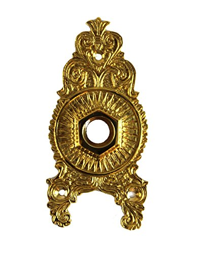 oor Hardware Back Plate Rosette Polished Brass ()
