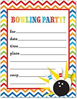 Amazoncom Bowling Party Invitations Set of 8 Kitchen Dining