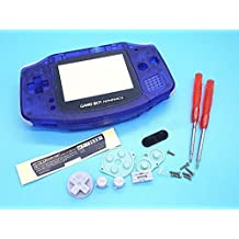Gametown® Full Housing Shell Pack Cover Case for Nintendo Gameboy Advance GBA Repair Part Color Clear Blue