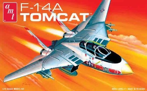 Fighter Tomcat F-14a - AMT Grumman F-14A Tomcat Fighter Jet 1/72 Scale Airplane Model Building Kit by AMT Datasouth