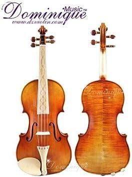 Dominique Music - Violín de estilo barroco, hecho a mano, 4/4, con estuche, cuerdas dominantes y lazo: Amazon.es: Instrumentos musicales