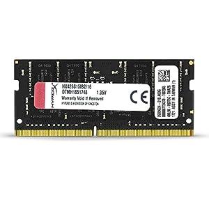 HyperX Kingston 16GB 2666MHz DDR4 Non-ECC CL15 SODIMM Impact (HX426S15IB2/16), Black