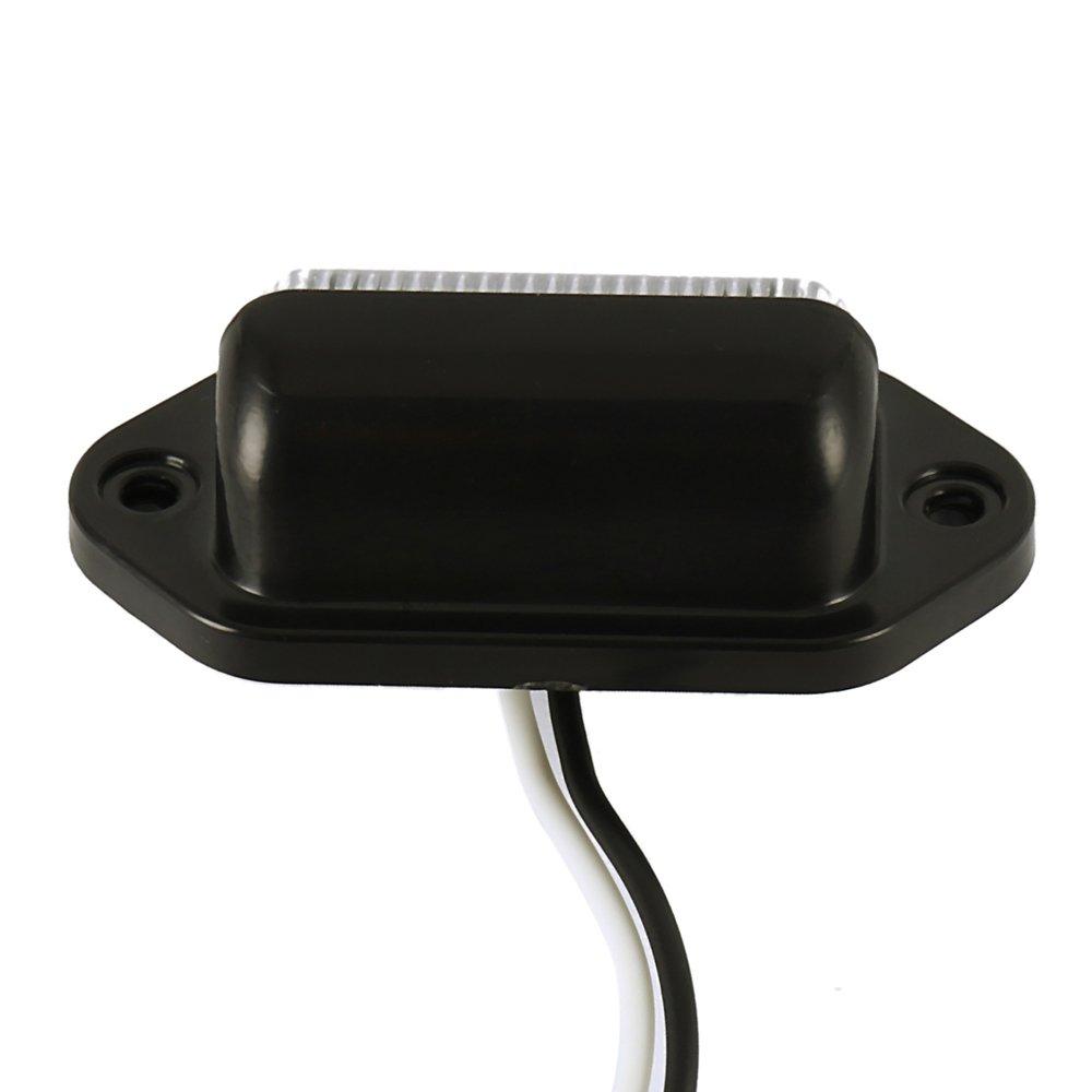 2 pcs Luce Targa Fanale Posteriore,6 LED Luce Portatarga Universale per 12V-24V Auto Rimorchio Camion Caravan Barca