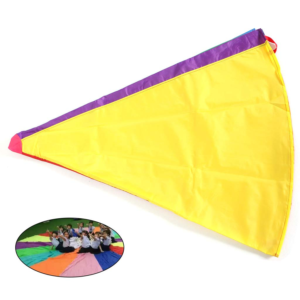 Aiyouxi 2m/3m Kids Children Rainbow Parachute Umbrella Games Outdoor Play Exercise Sports Toy Development Jump-Ballute by Aiyouxi (Image #2)