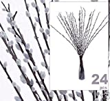 24 pcs 39'' Pussy Willow Artificial Silk Flower LiteGrey