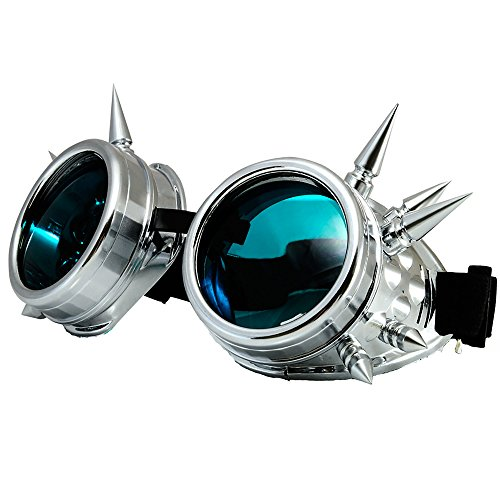 de para hombre morefaz Silber sol Gafas Spikes Sqgnw7P