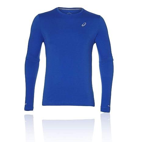 15f819e92ee6 ASICS Men Seamless Longsleeve Abbigliamento da Running Long Sleeve Blue -  Silver S