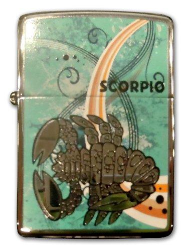 (Zippo Zodiac Scorpio High Polish Chrome Lighter)