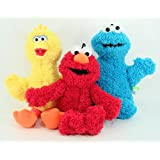 Sesame Street Classic Plush - 3 Pcs Set - Includes Elmo, Big Bird, and Cookie Monster