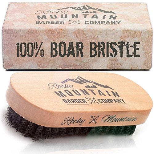 Brosse à barbe pour homme - 100 % pur sanglier cheveux soies naturelles pour barbe, Moustache - bois à la Main poignée - aucun doux de chicots, aucune rayure, peignage ne brosse - utiliser avec barbe huile & cire barbe