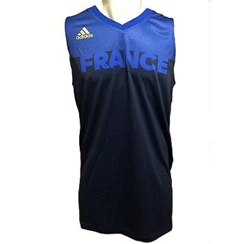 adidas Maillot de Basket Ball FFBB Homme Equipe de France JO