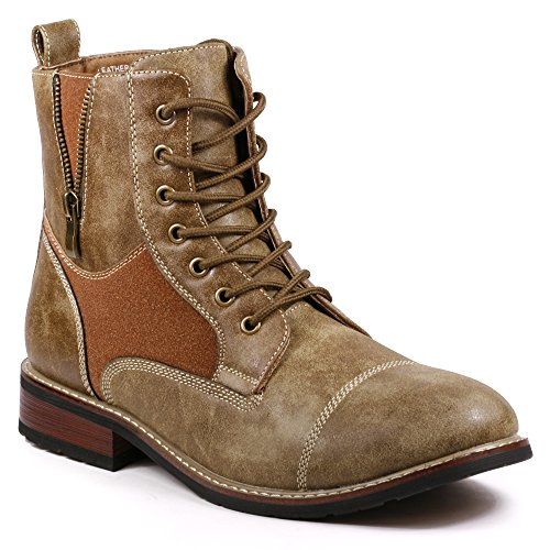 Metrocharm MET525-10 Men's Lace Up Cap Toe Military Combat Work Desert Ankle Boots