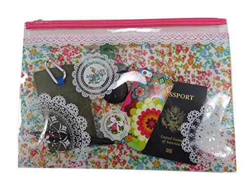 Travel/Cosmetic Zipper Bags Vinyl (2 Piece) 9.75