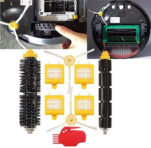 9pcs真空クリーナーフィルターブラシパックキット(iRobot Roomba 700シリーズ用)