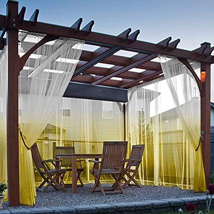 Cololeaf - Cortina para patio, porche, cenador, pérgola y cabana, para jardín, playa, casa, jardín, boda, color amarillo, 132 cm de ancho x 213 cm de largo (1 panel): Amazon.es: Jardín