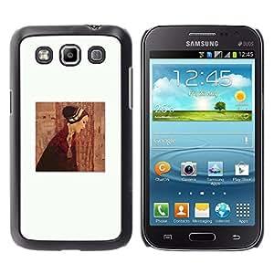 Caucho caso de Shell duro de la cubierta de accesorios de protección BY RAYDREAMMM - Samsung Galaxy Win I8550 I8552 Grand Quattro - Clean Painting Dress Deep White